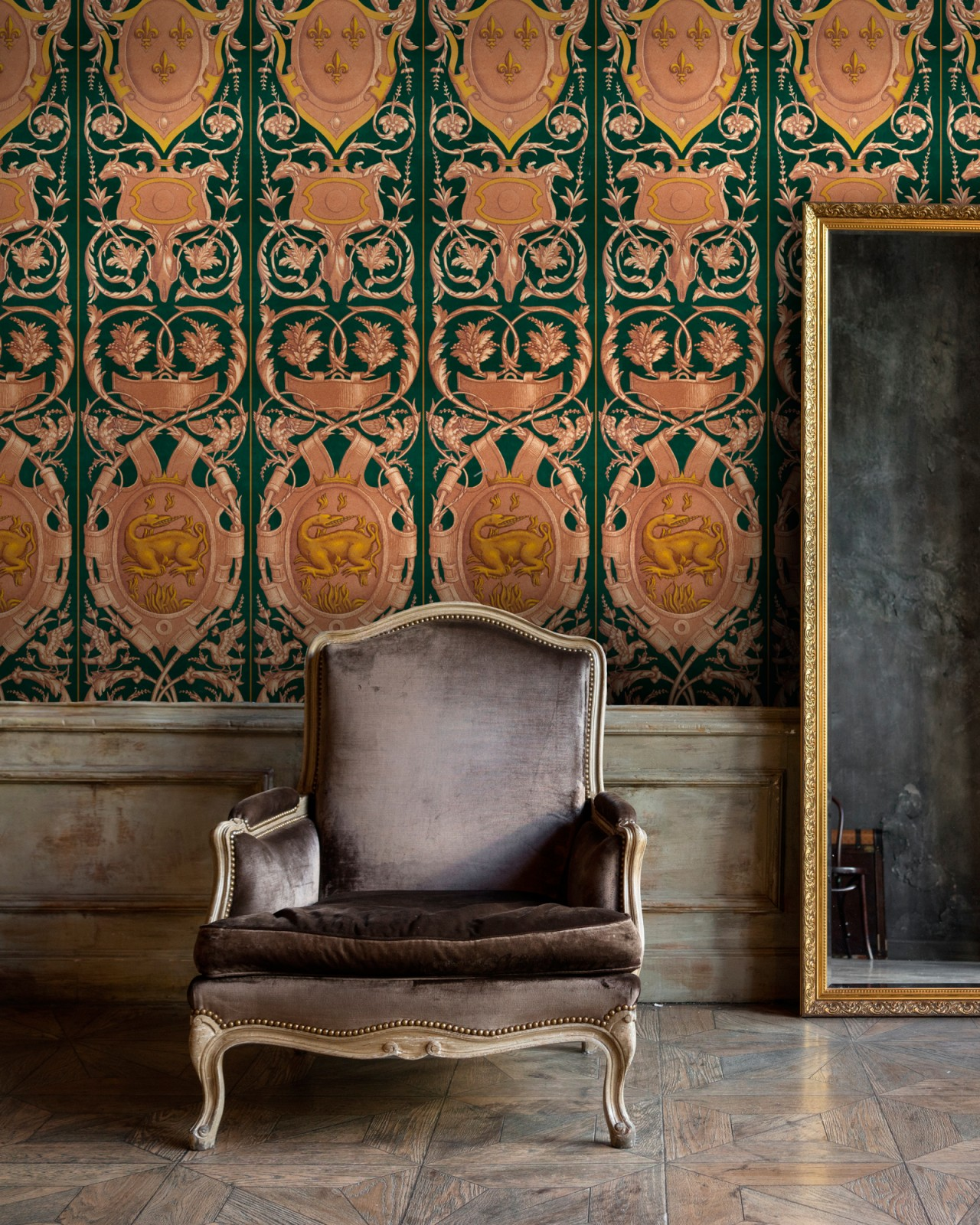 FONTAINEBLEAU Anthracite Wallpaper
