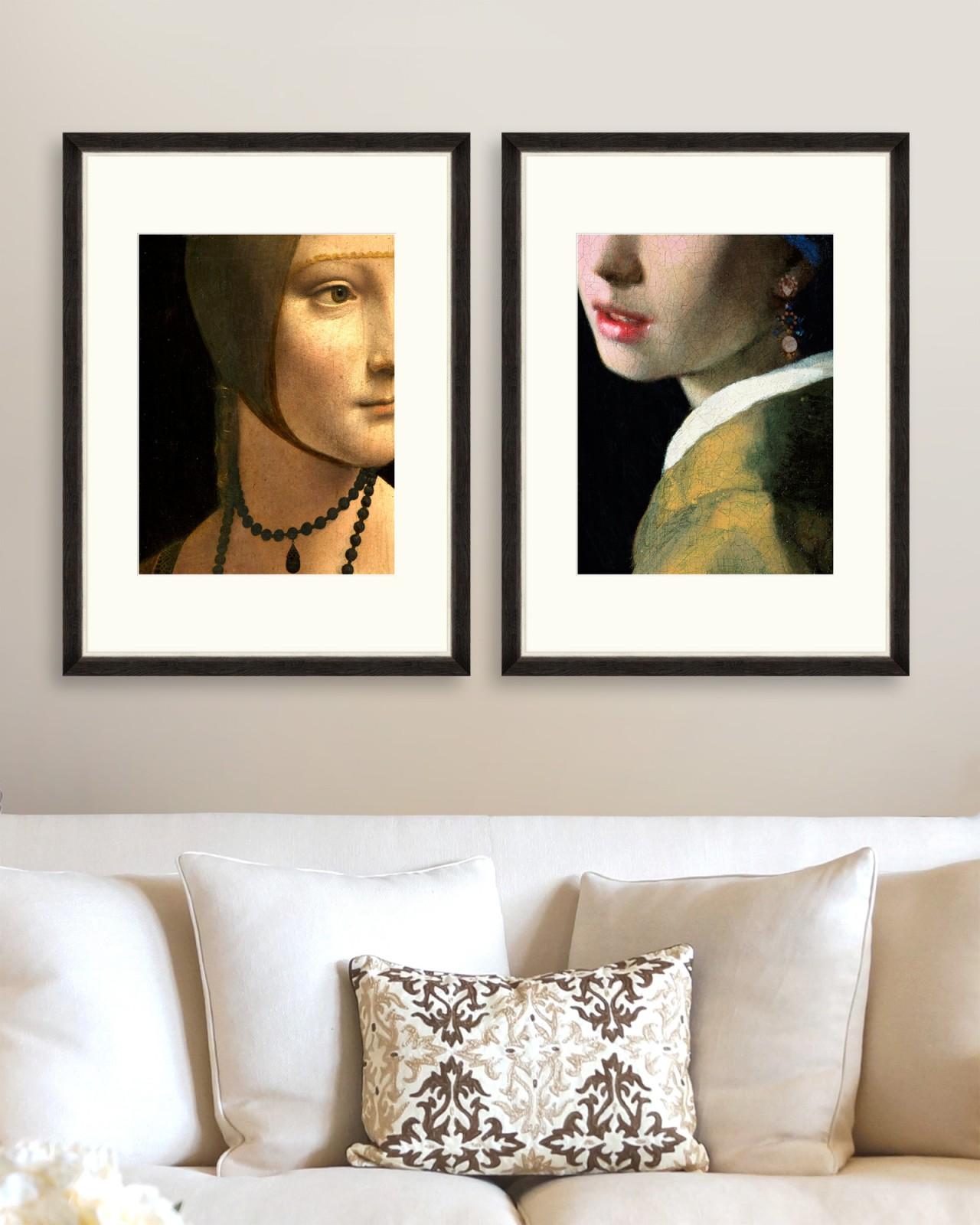 RENASCENTIST PORTRAIT DETAILS Set of 2 Framed art