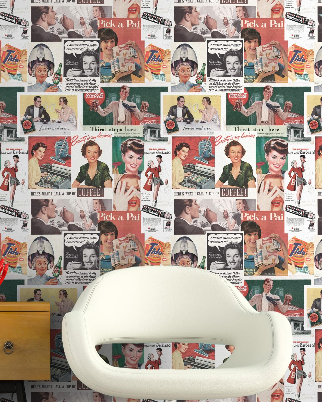 RETRO ADS Premium Wallpaper