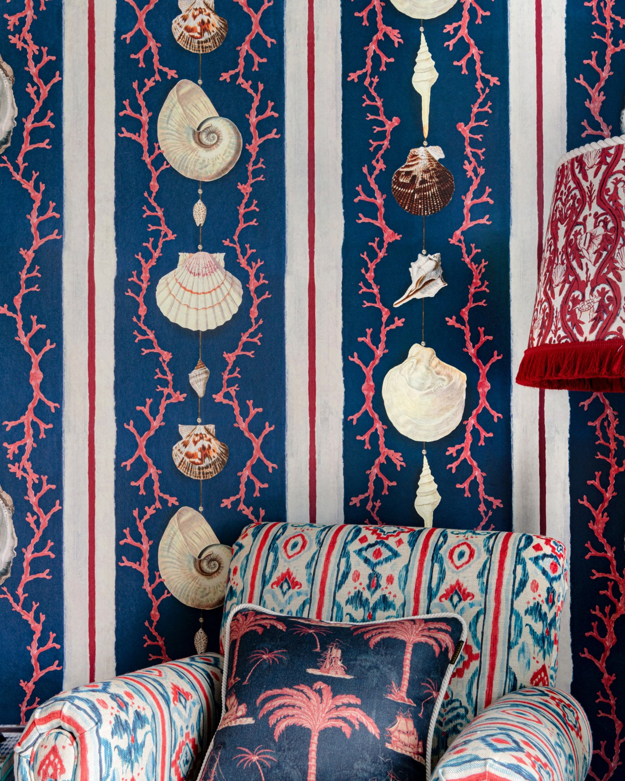 COQUILLAGE Samba Red Wallpaper