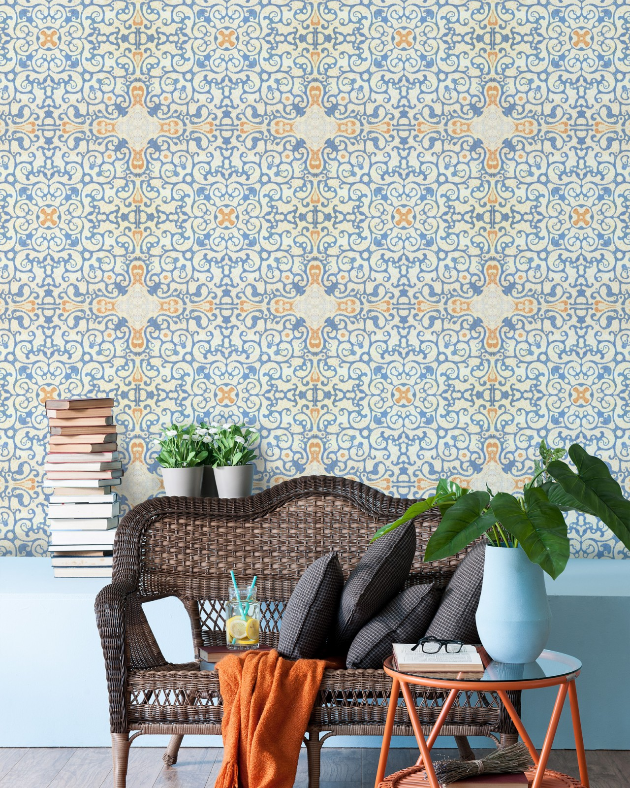 SPANISH TILE Premium Wallpaper