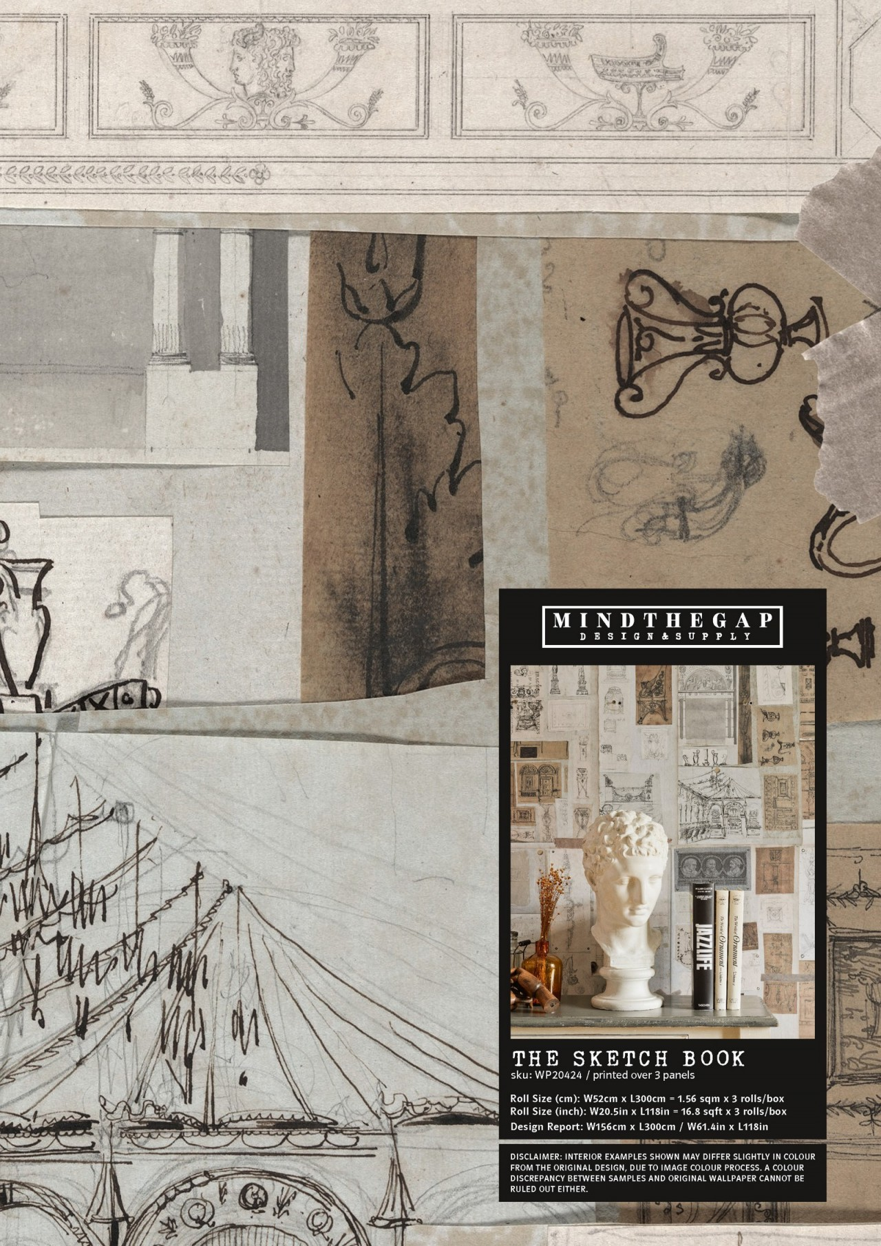 THE SKETCH BOOK Wallpaper Sample