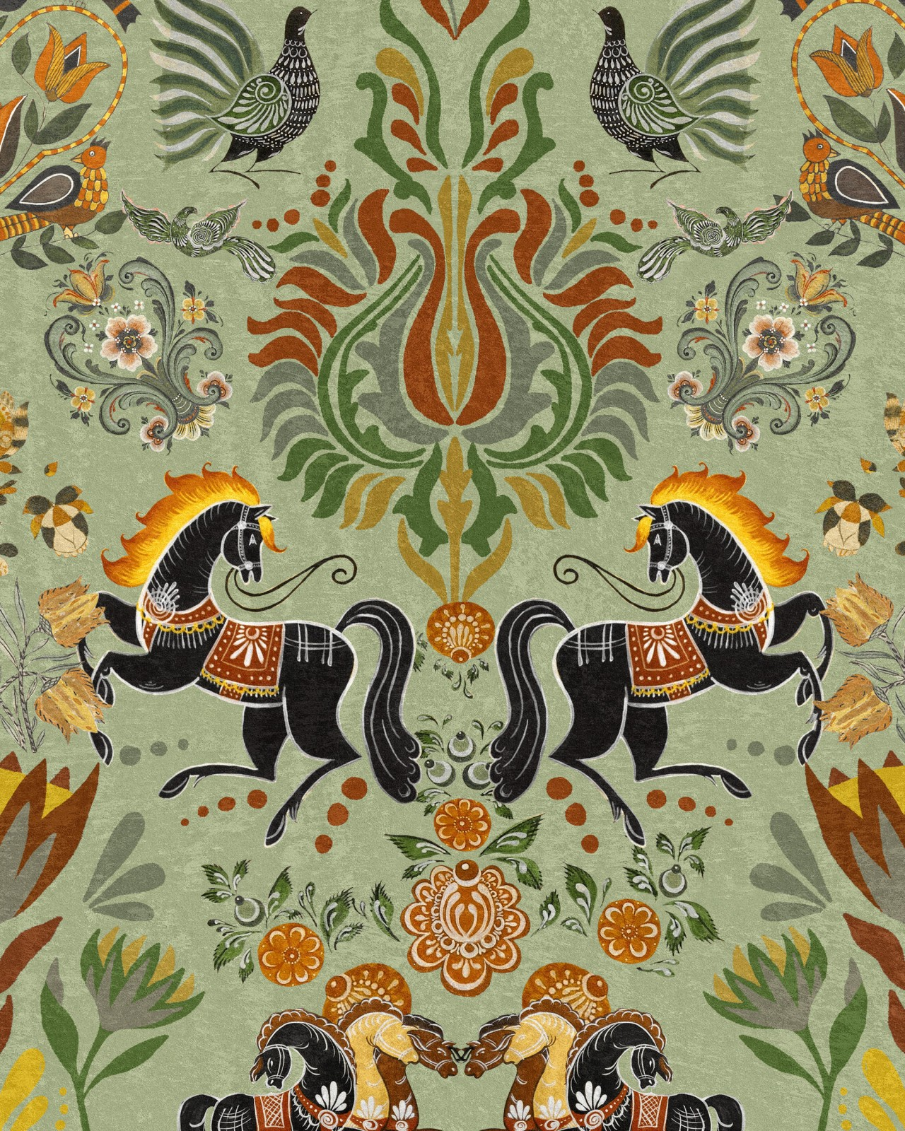 THE FOLK PARADE Wallpaper