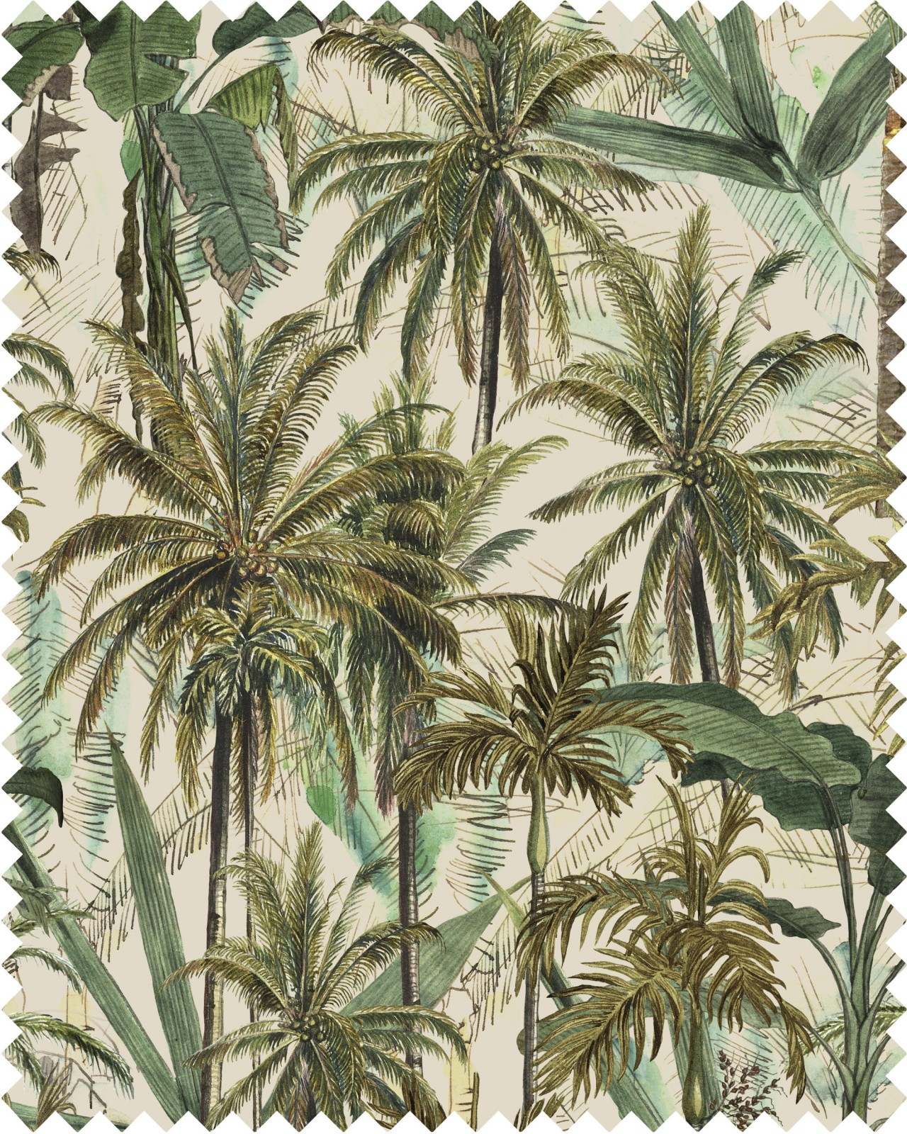 THE JUNGLE Linen Sample