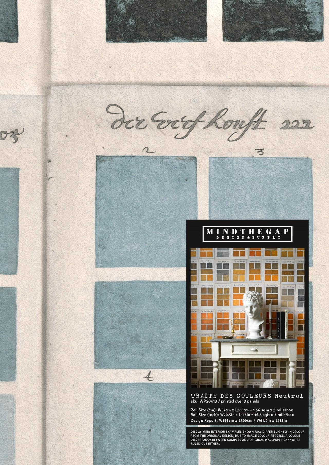 TRAITE DES COULEURS Neutral Wallpaper Sample
