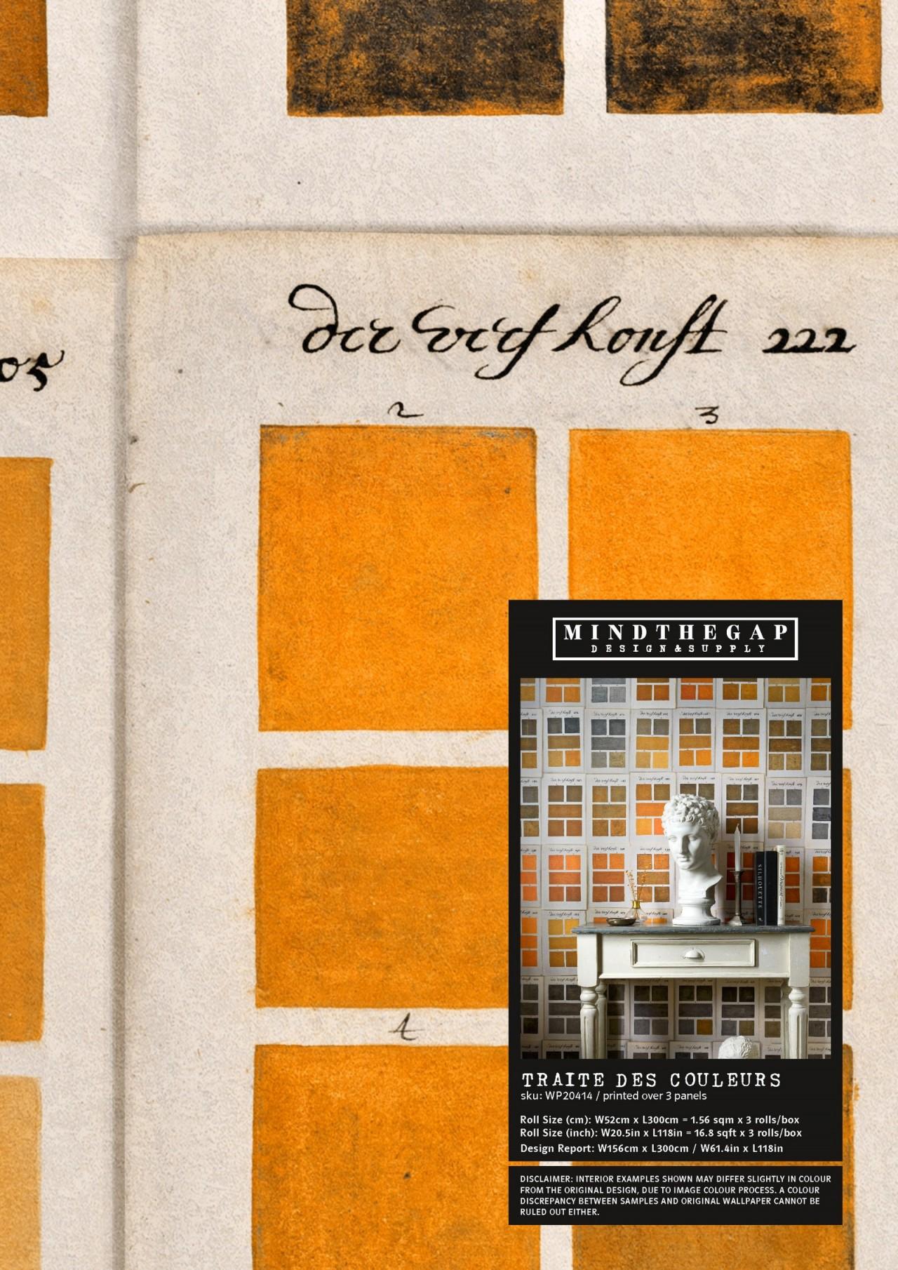 TRAITE DES COULEURS Wallpaper Sample