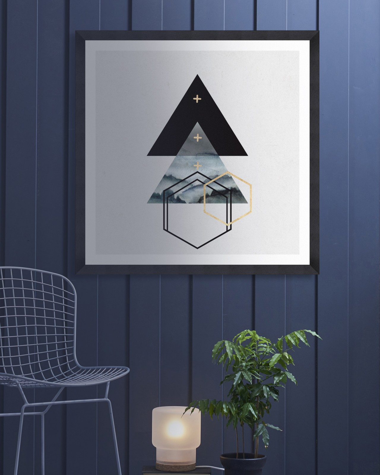 TRIANGLES I Framed Art
