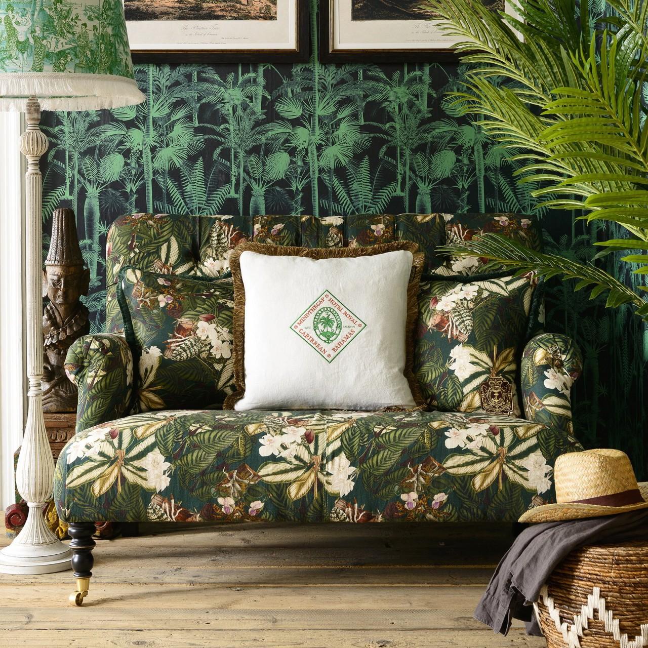 TRUMAN Sofa - ORCHID BLOOM Linen