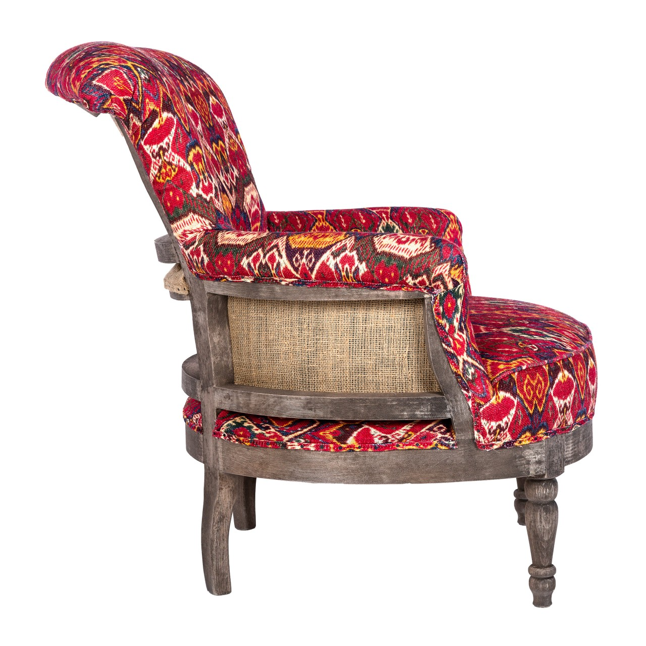LOUIS Deconstructed Chair - UZBEK IKAT Linen