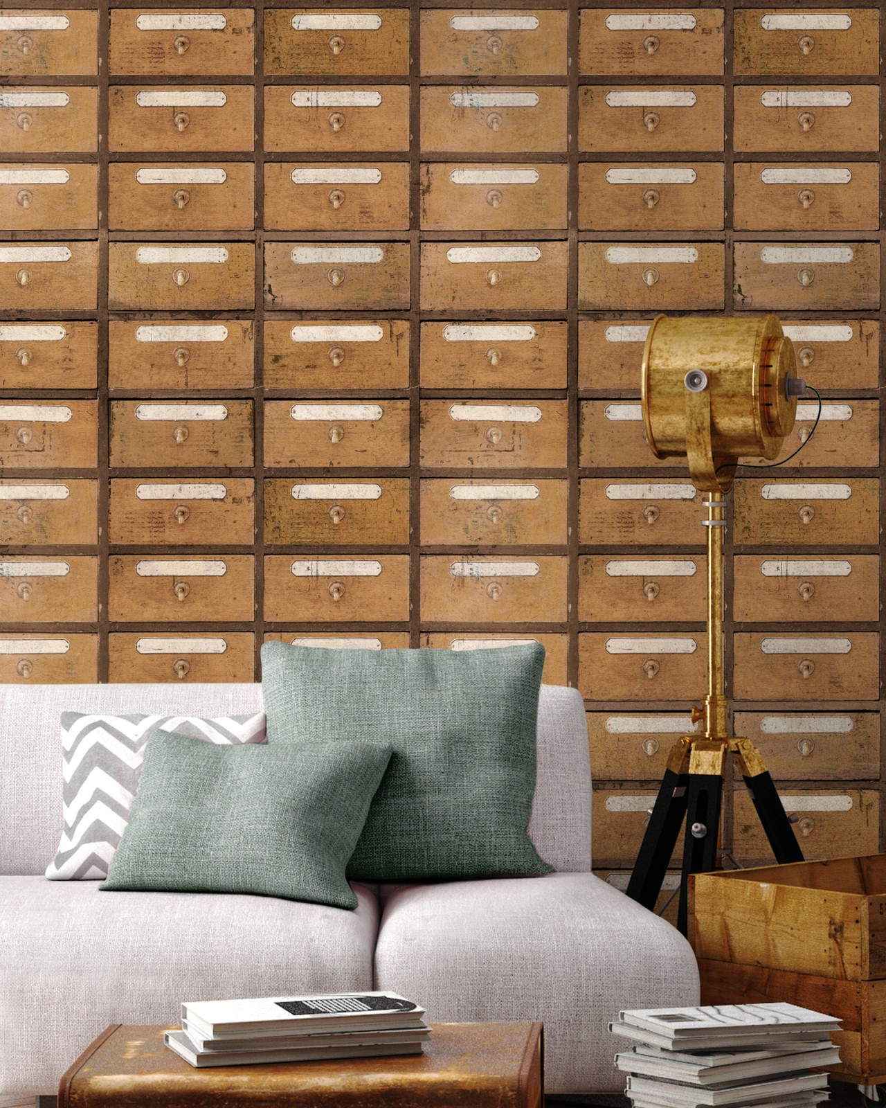 VINTAGE PHARMACY Premium Wallpaper