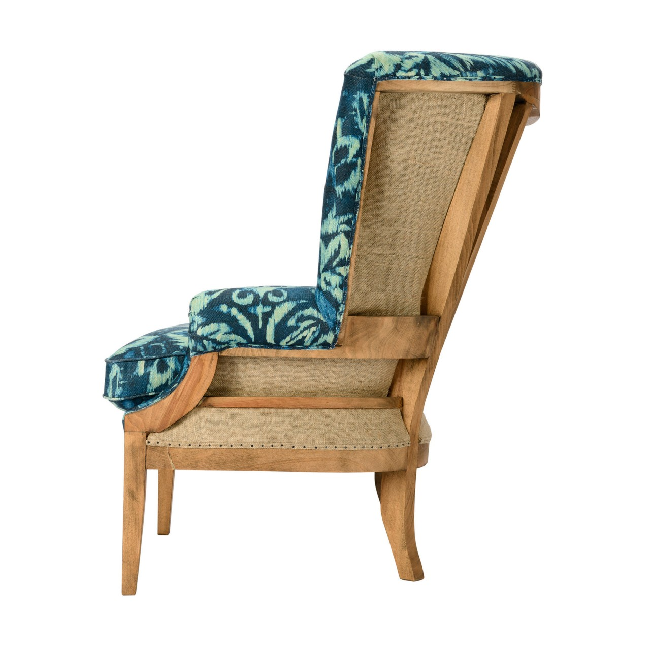 WILLIAM DECONSTRUCTED WING CHAIR - IONIAN Linen