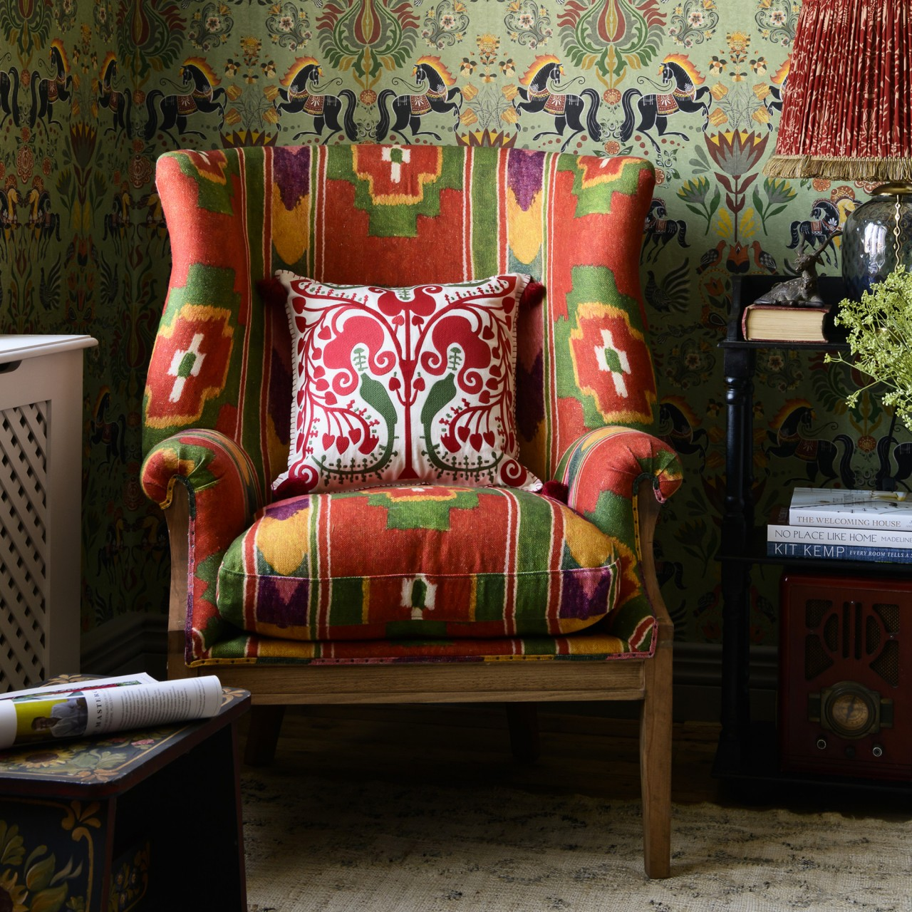 WILLIAM DECONSTRUCTED WING CHAIR - ERDELY Linen