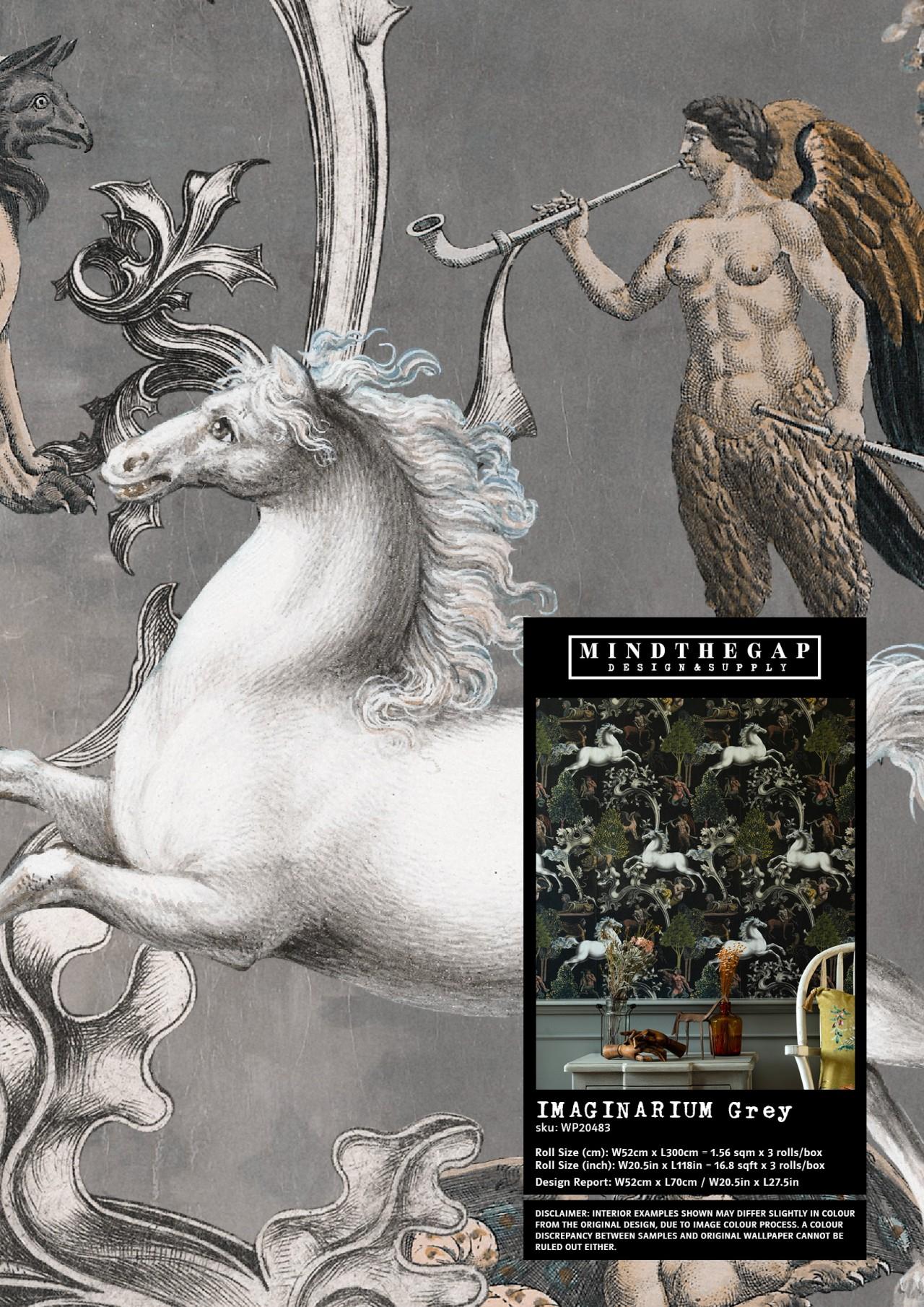 IMAGINARIUM Grey - Wallpaper Sample