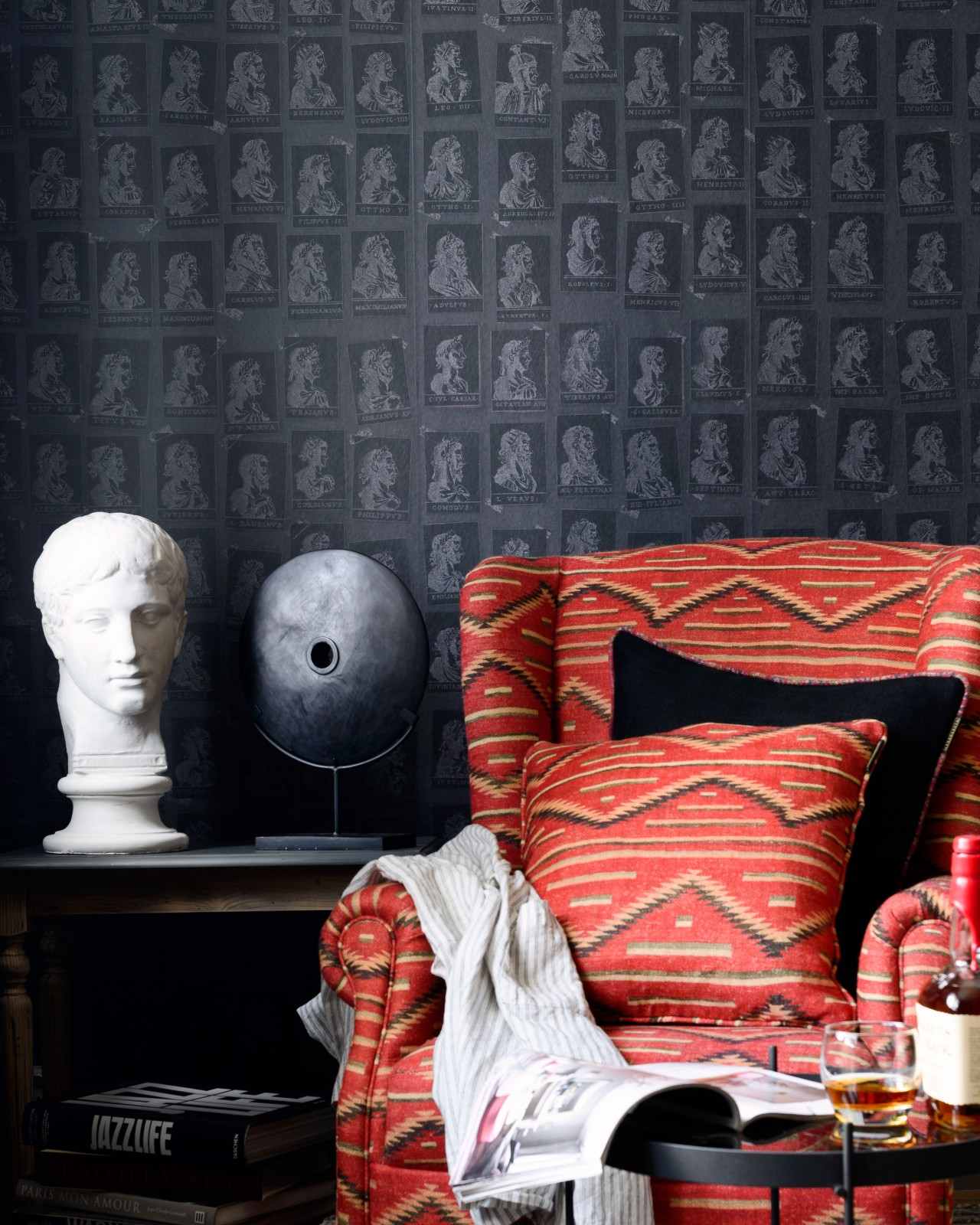 EMPERORS Anthracite Wallpaper
