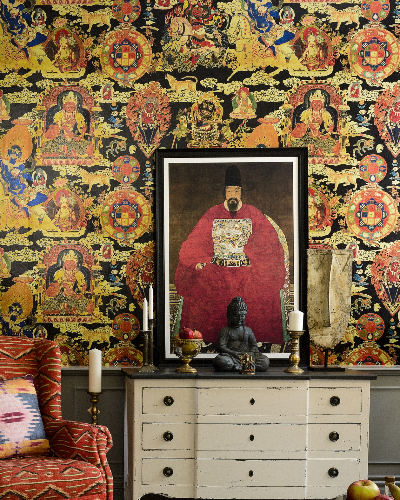 TIBETAN TAPESTRY Metallic Edition Wallpaper