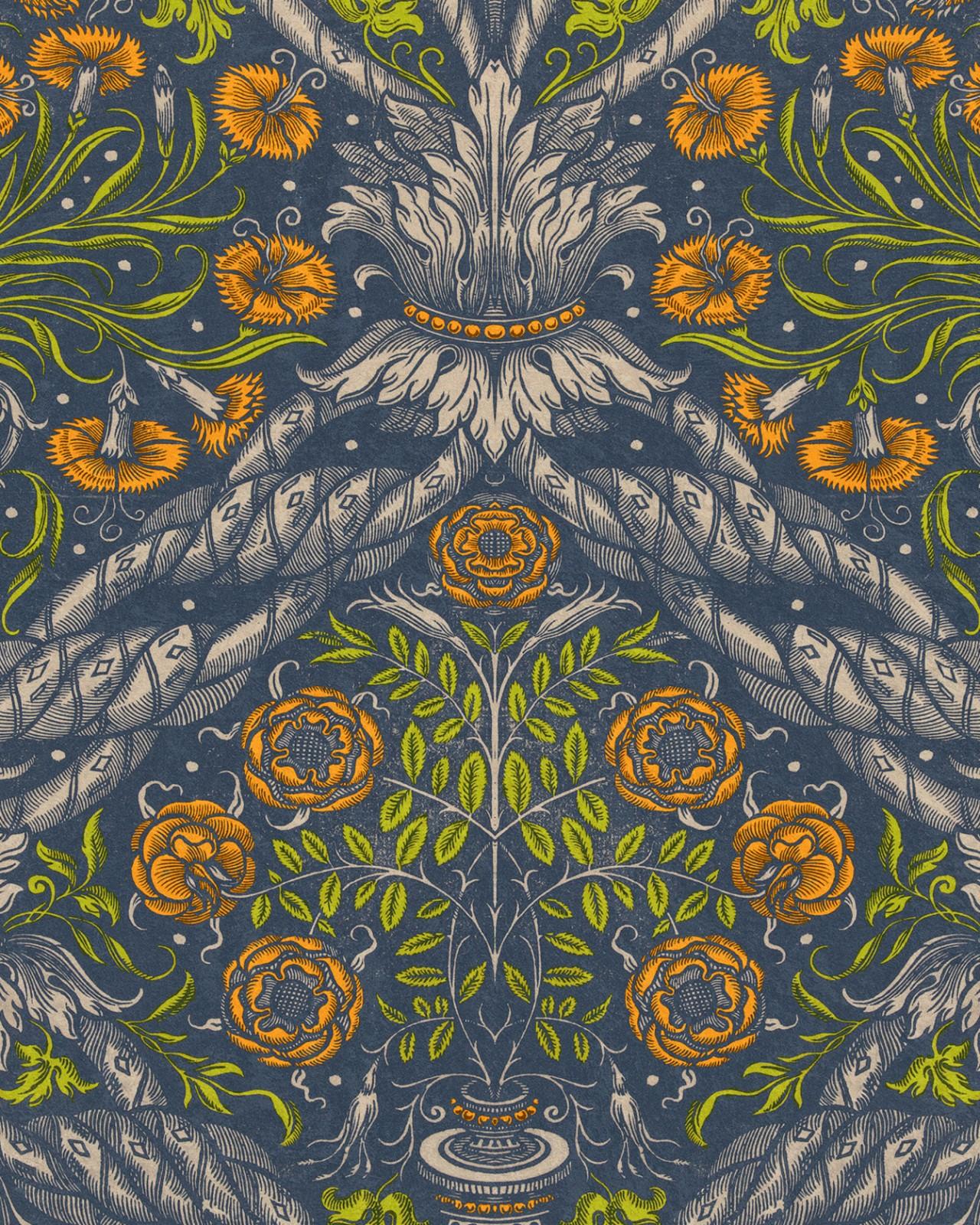 FLORAL ORNAMENT Wallpaper