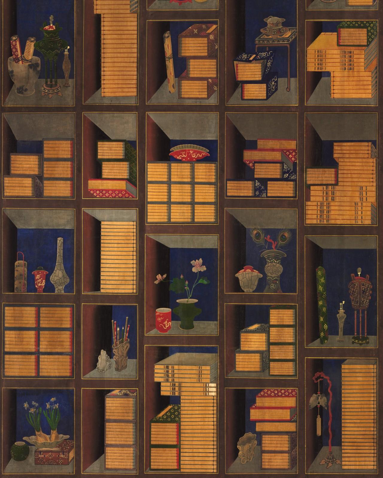 KOREAN LIBRARY Chromo Wallpaper