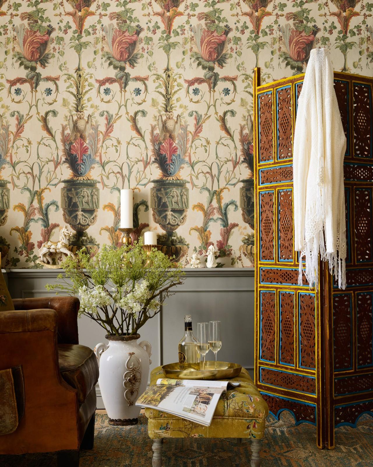 LE JARDIN SECRET Taupe Wallpaper