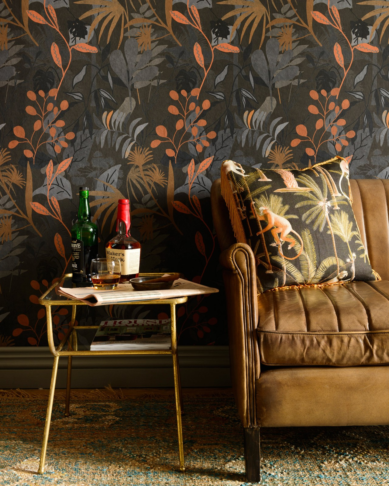 CARIBBEAN GARDEN Dark Wallpaper