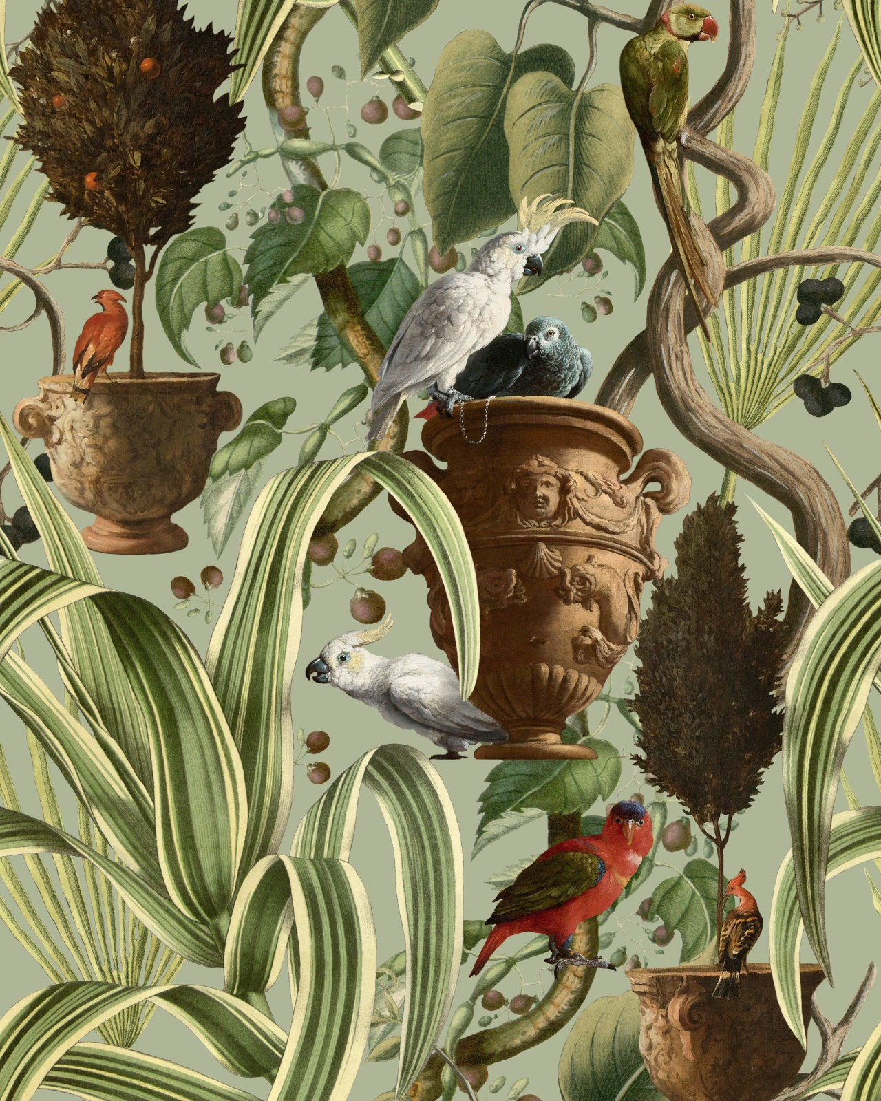 EXOTIC MENAGERIE Light Wallpaper