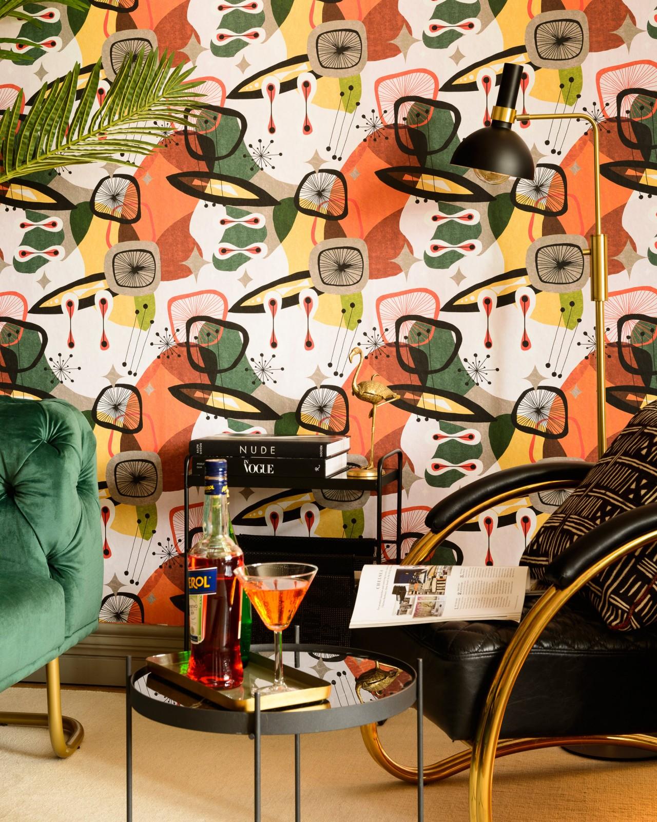CENTURY ELEMENTS Green Wallpaper