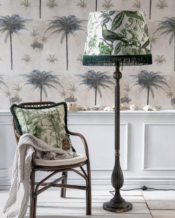 LA VOLIERE Green ARTISAN vintage black Floor Lamp
