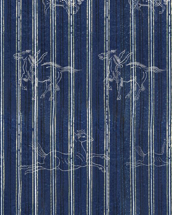 A FABLE Indigo Wallpaper