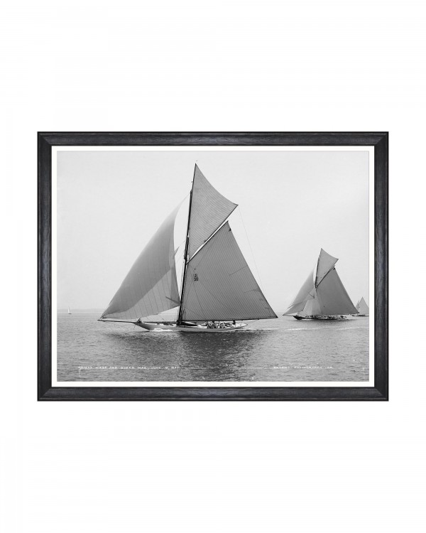 AMERICA'S CUP - WASP AND QUEEN MAB 1897 Framed Art