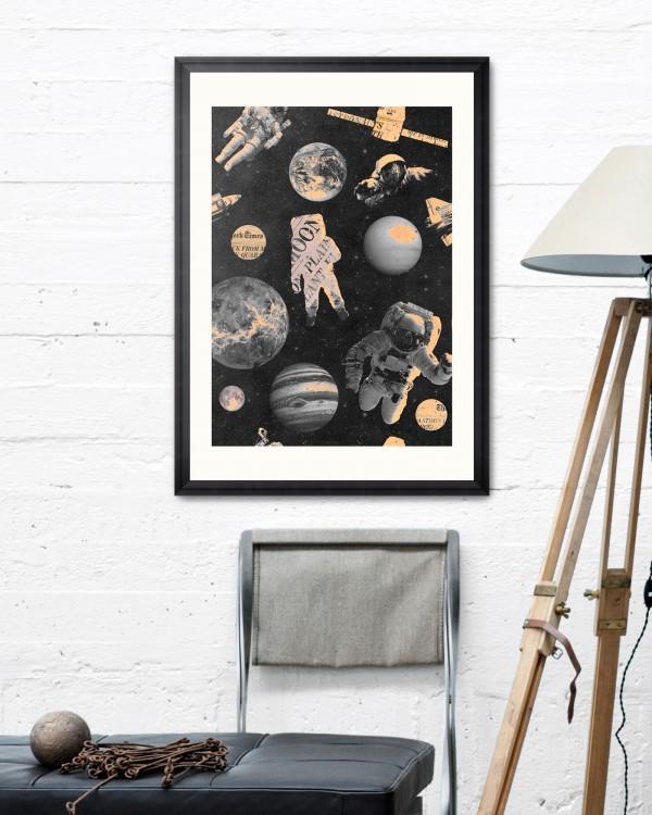 ASTRONAUTS Framed Art