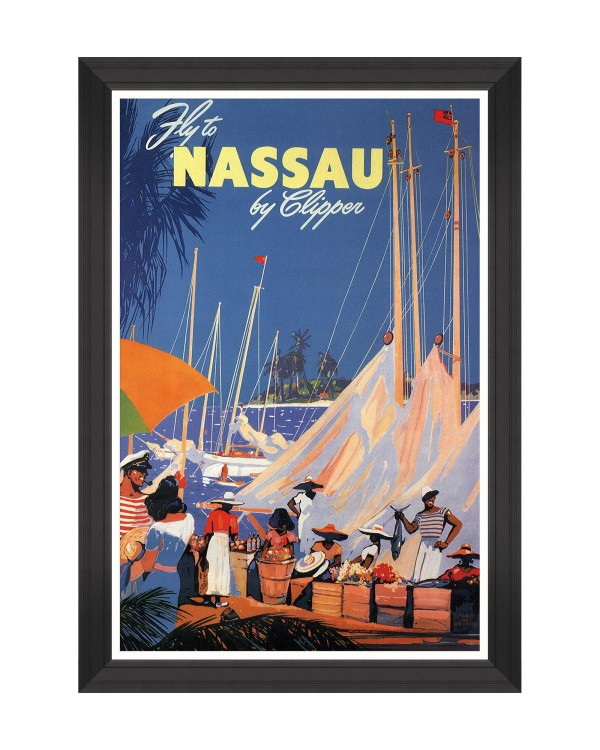 CARIBBEAN TRAVELS - FLY TO NASSAU Framed Art