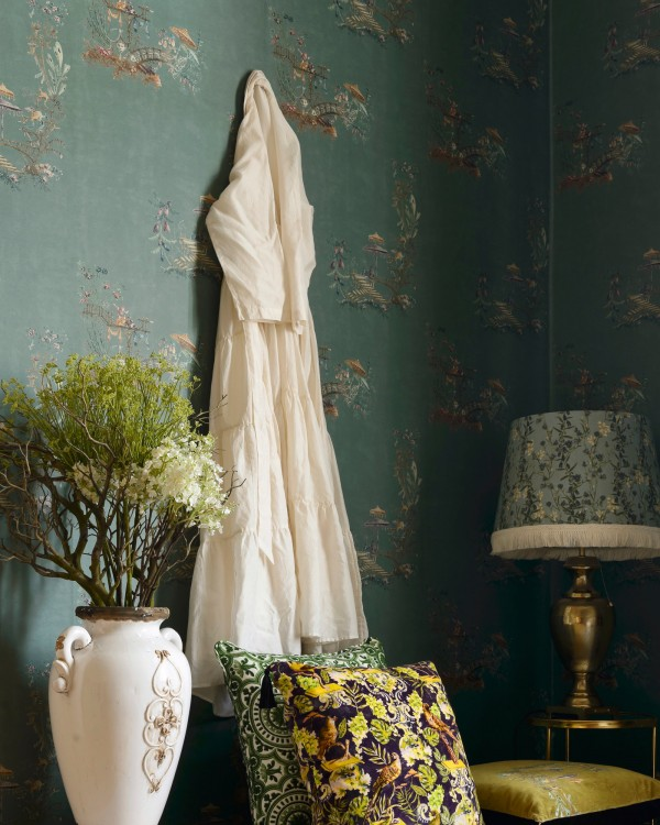CHINOISERIE Blue Wallpaper