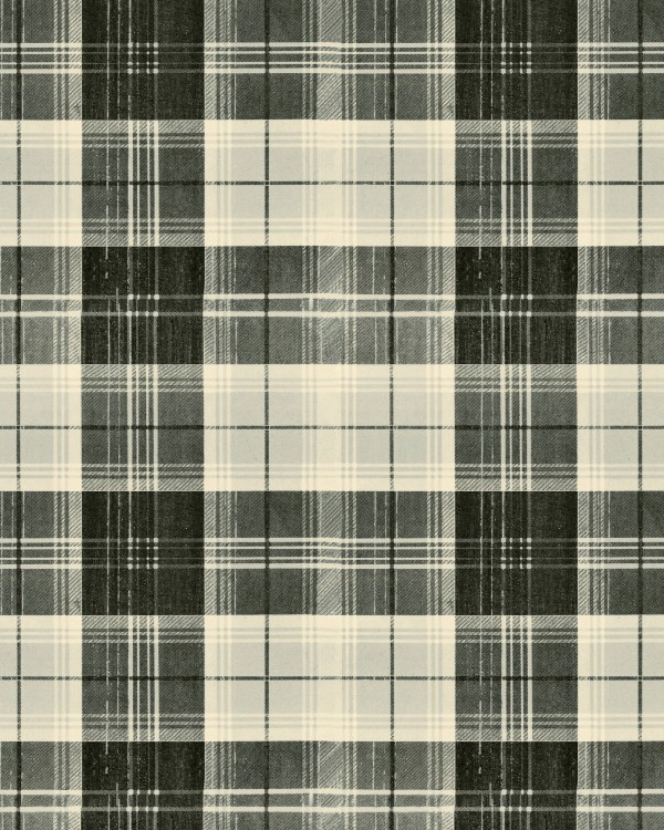 COUNTRYSIDE PLAID Charcoal Wallpaper