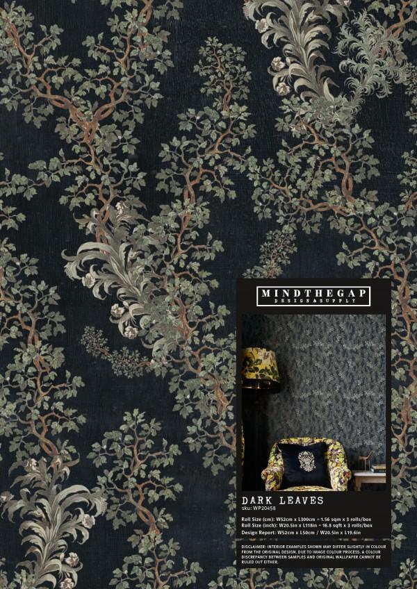 DARK LEAVES Wallpaper Sample