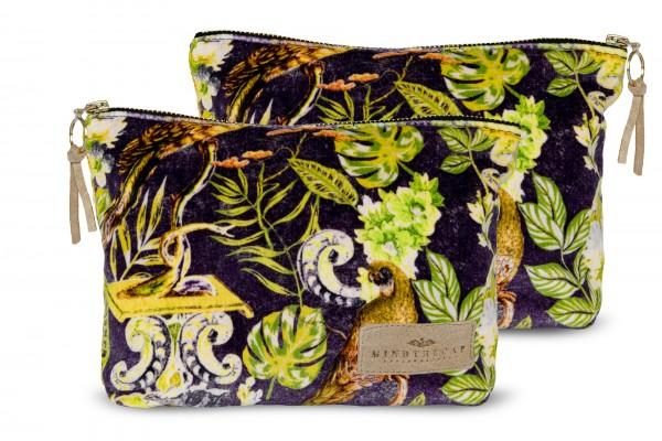 LA VOLIERE Velvet Wash Bag
