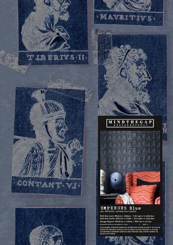 EMPERORS Blue Wallpaper Sample