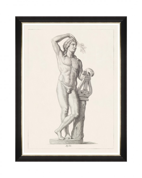 GREEK GODDESS AND GODS - APOLLO Framed Art