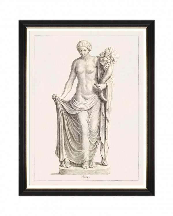 GREEK GODDESS AND GODS - FLORA Framed Art