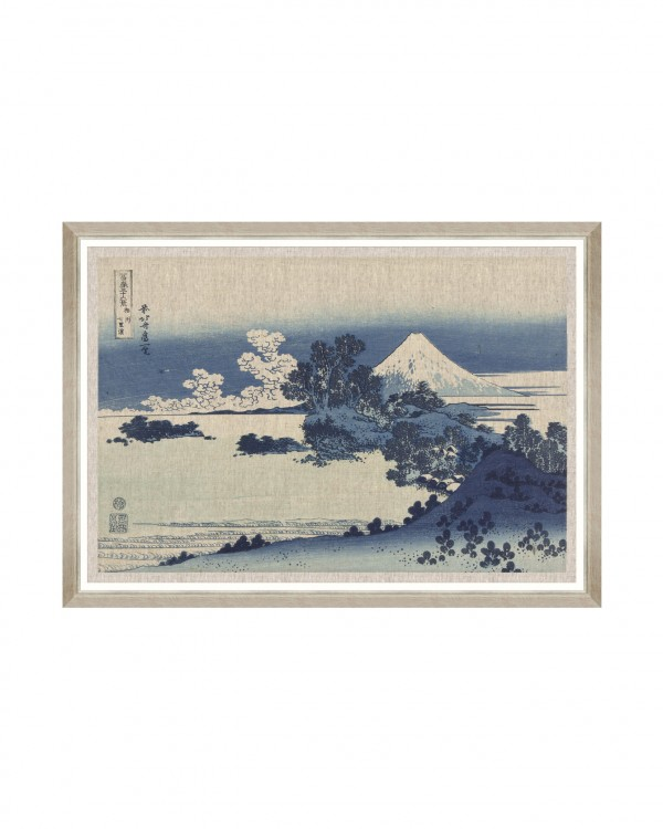 SHICHIRI GA HAMA BY HOKUSAI Framed Art