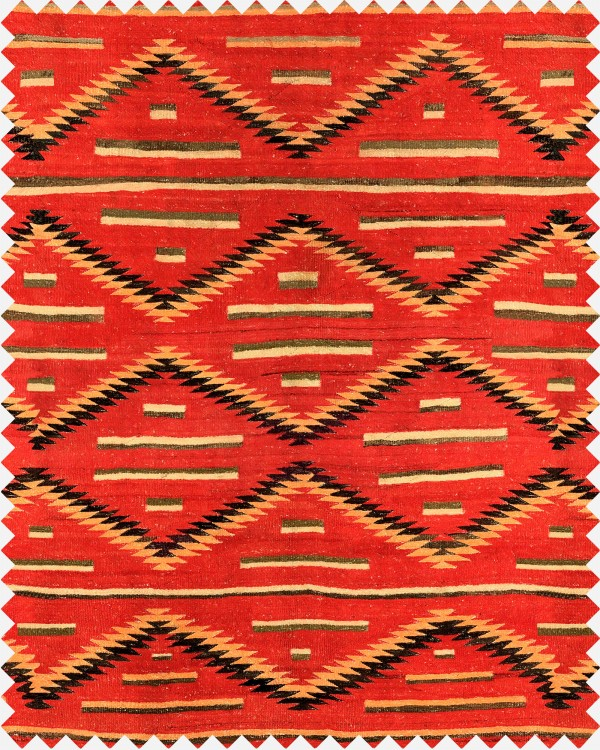 EYEDAZZLER NAVAJO Linen Fabric Sample