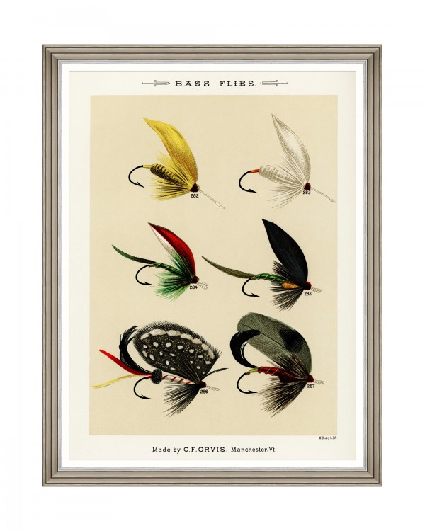 FISHING FLIES I by Mary Orvis Marbury Framed Art