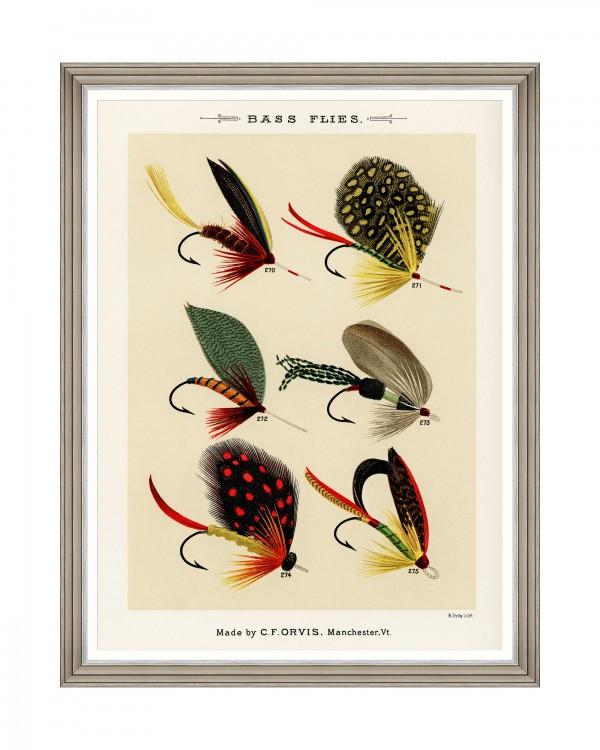 FISHING FLIES II by Mary Orvis Marbury Framed Art