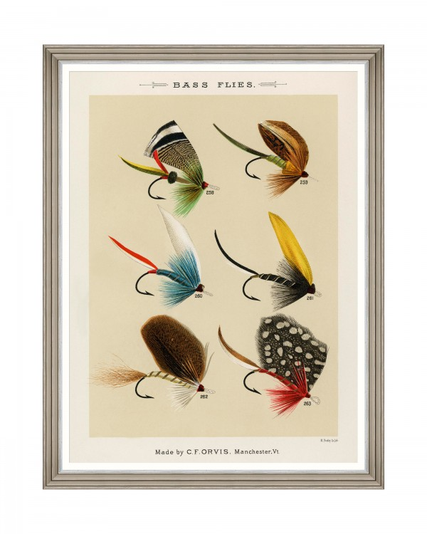 FISHING FLIES IV by Mary Orvis Marbury Framed Art