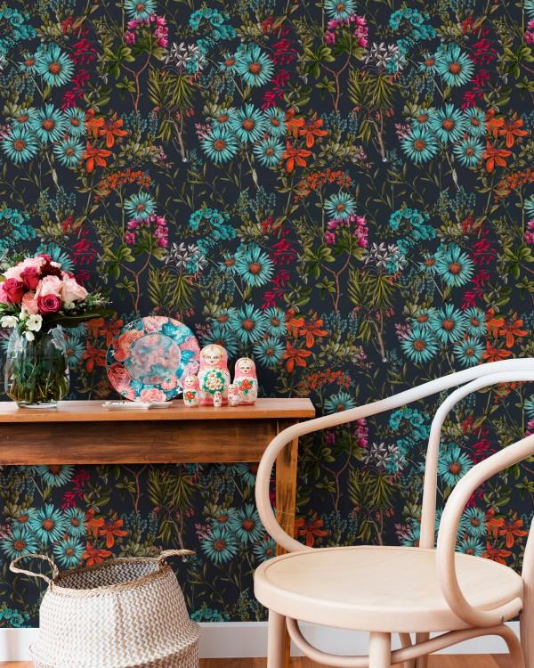 SUMMERISH Charcoal Wallpaper
