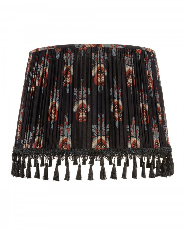FLORAL CREST Pleated Lampshade