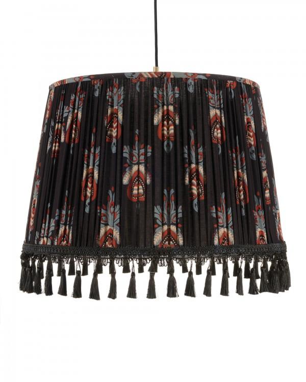 FLORAL CREST Pleated Pendant Lamp