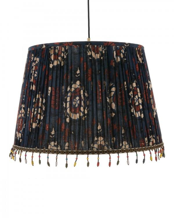 FLOURISH BLUE Pleated Pendant Lamp