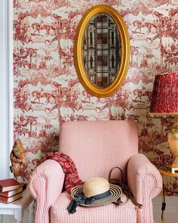 GRAND PRIX Smokey Red Wallpaper
