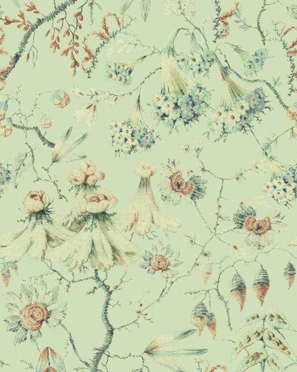 GRANDMA'S TAPESTRY Green Wallpaper