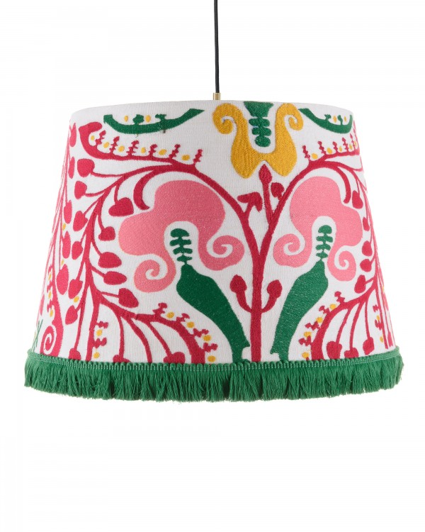 HUNGARIAN EMBROIDERY Embroidered Pendant Lamp