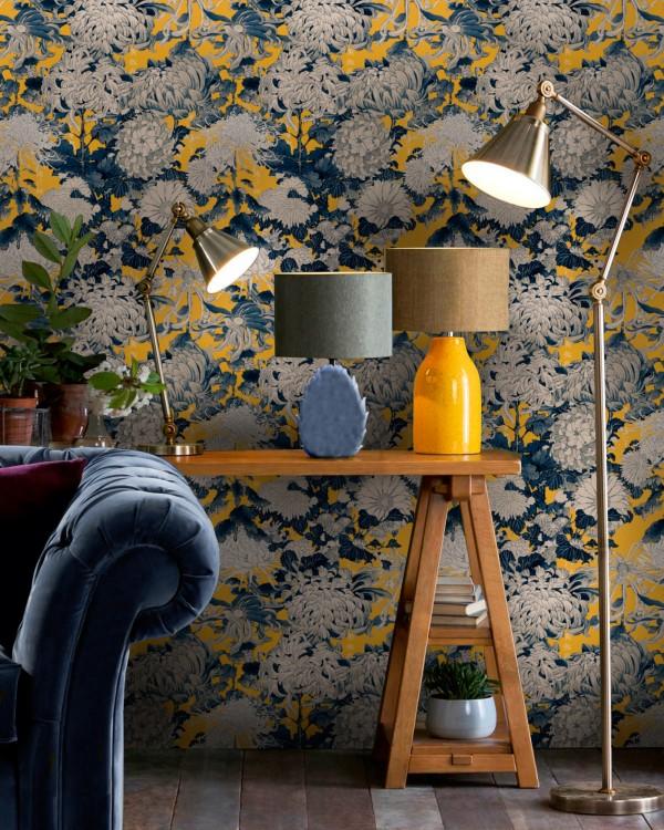 CHRYSANTHEMUMS Yellow Wallpaper